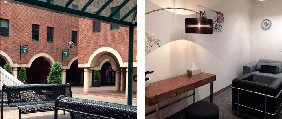 External and Internal Views of Canary Wharf Counselling Practice