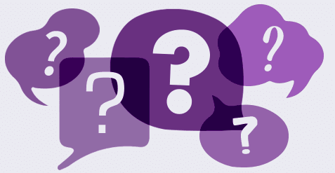 Question marks standing for commonly asked counselling questions