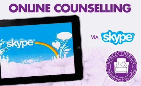 Online counselling - therapy chair