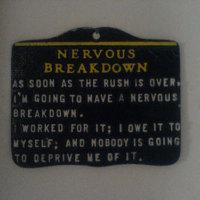 symptoms of a nervous breakdown